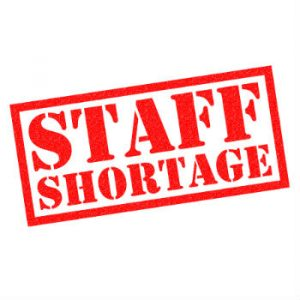 Major staff shortages in Hospitality and Retail sectors