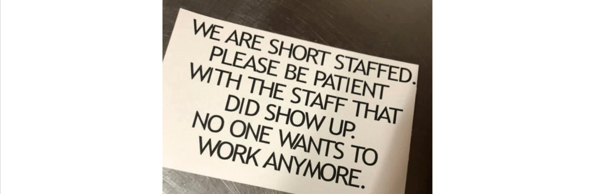Staff Shortages – Are people looking for work?